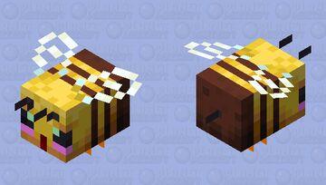 cute smol blushing bee Minecraft Mob Skin