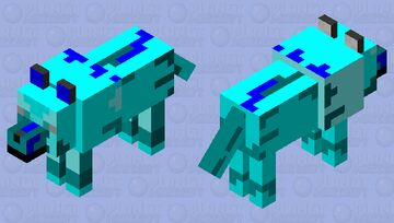 Ice spikes dog Minecraft Mob Skin