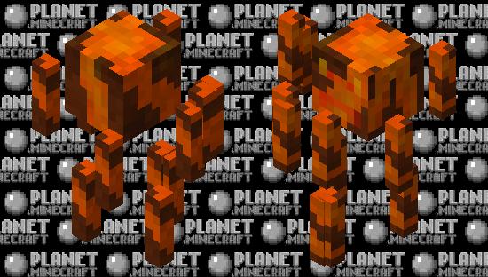 Magma / volcano blaze Minecraft Skin