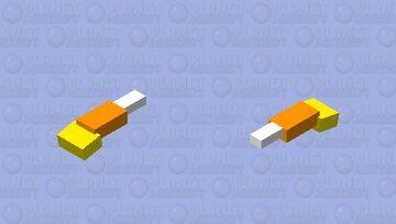 Candy Corn Phantom Minecraft Mob Skin