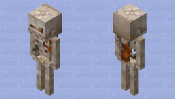 Judgemental Skeleton Minecraft Mob Skin