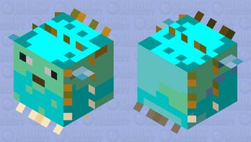 WINTER PUPPERFISH Minecraft Mob Skin