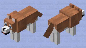 Brown Siberian Husky Minecraft Mob Skin