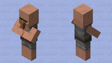 Villagers but they look into your soul Minecraft Mob Skin