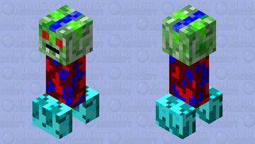 Vampire Creeper Minecraft Mob Skin