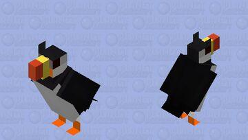Papagaio-do-mar-de-chifres (Fratercula corniculata) Minecraft Mob Skin