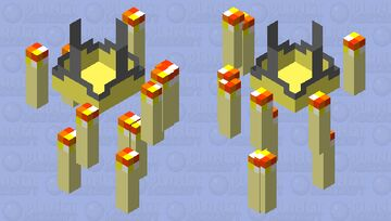 Floating Candle Chandelier Minecraft Mob Skin