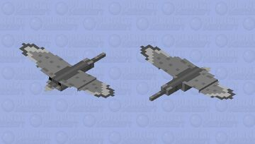 Scientifically Plausible Ropen (fictional pterosaur.) Minecraft Mob Skin