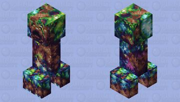 Manaroot - The Mana Charged Tree Creeper of Wisdom Minecraft Mob Skin