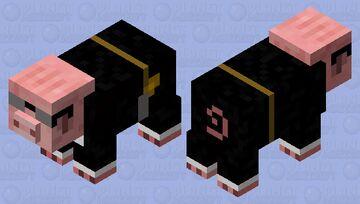 Pig in black Minecraft Mob Skin