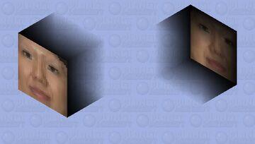 Floating Face of Mayuko Toyota Minecraft Mob Skin