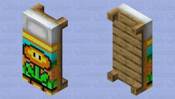 Yellow bed Minecraft Mob Skin