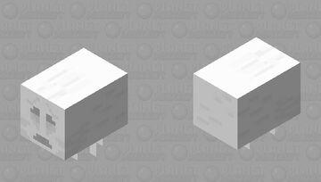 Mini Ghast (Bee reskin, calm bee) Minecraft Mob Skin