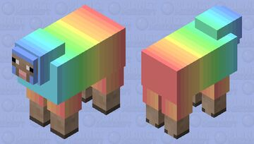 rainbow sheep Minecraft Mob Skin