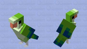 Monk Parakeet(Quaker parakeet,몽크앵무) Minecraft Mob Skin