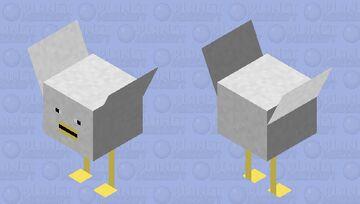Chicken that has been bitten by a radioactive strider Minecraft Mob Skin