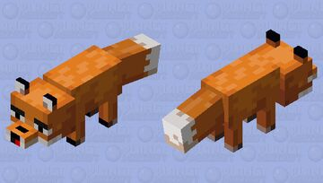 Fox with Open Mouth Minecraft Mob Skin