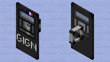 steel shield Minecraft Mob Skin
