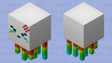 Rainbow Ghast Angwy >- Minecraft Mob Skin