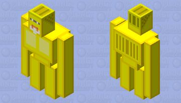 Golden Golem a.k.a Protector of the Bastion Minecraft Mob Skin