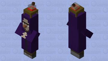 Witch wizard. Minecraft Mob Skin