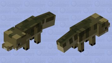Freshwater alligator/crocodile idk. (Mineozoic. Java.) Minecraft Mob Skin