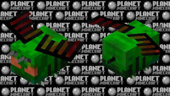 Green Dragon Bee Minecraft Skin