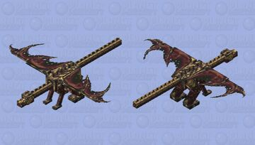 Albagar-ath the cursed dragon [DRAGON SKIN CONTEST] Minecraft Mob Skin