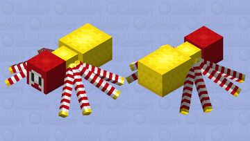 Ronald McDonald spider! Minecraft Mob Skin