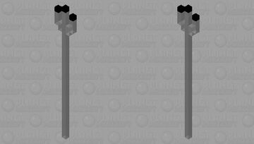 ghostly dark trident Minecraft Mob Skin
