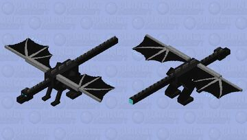 more blue dragon with rocket tail booster Minecraft Mob Skin