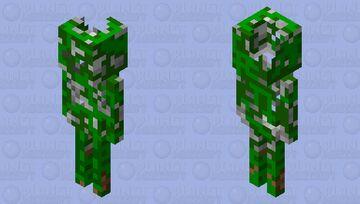 vine wrapped skeleton Minecraft Mob Skin