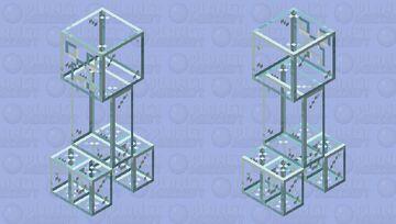 Glass Creeper Minecraft Mob Skin
