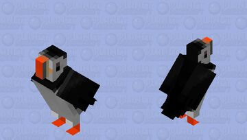 Papagaio-do-mar (Fratercula arctica) Minecraft Mob Skin