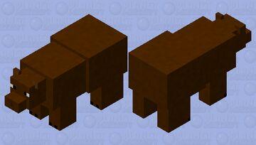 Grizzly Bear. (Hostile Mob.) Minecraft Mob Skin