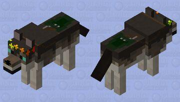 floral wolf Minecraft Mob Skin