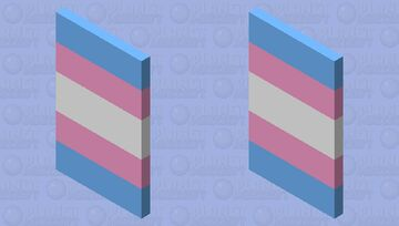 Trans Flag Cape Minecraft Mob Skin