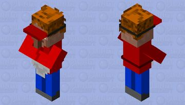 Villager pizza deliveryman Minecraft Mob Skin