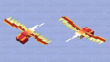 Phoenix Phantom with Decreased Resolution Minecraft Mob Skin