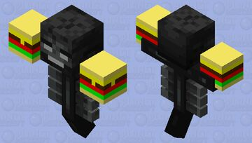 hear you go some burgers with extra DEATH! Minecraft Mob Skin