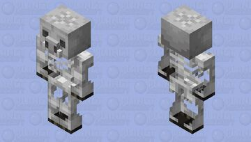 Skeletified Piglin Minecraft Mob Skin
