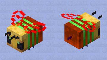 Rainbow Bee Minecraft Mob Skin