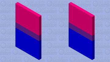Bisexual Flag Cape Minecraft Mob Skin