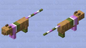 pride flag cats pt 10 (british cat) - genderqueer flag Minecraft Mob Skin
