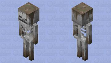 Po- Mud Covered Skeleton Minecraft Mob Skin