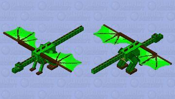 Woodland Dragon Minecraft Mob Skin