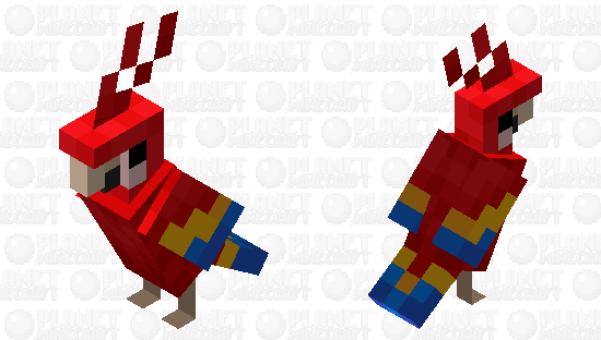 Scarlet Macaw Minecraft Skin