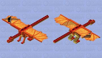 Peril The Skywing - Wings of Fire Dragon Skin Minecraft Mob Skin