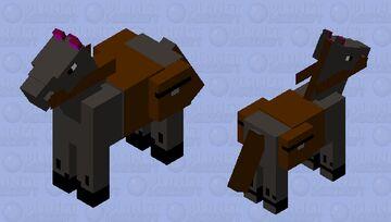 caballo gris de carga Minecraft Mob Skin