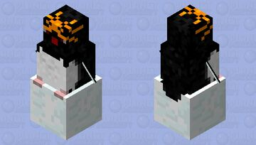 Macaroni penguin riding a snowball Minecraft Mob Skin